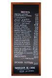 menu spanish Zdjęcie Stock