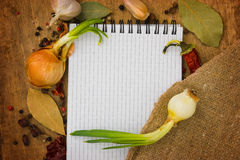 Menu of the spices Stock Photography
