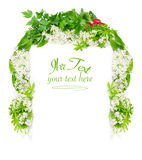 Menu, spring herbs Royalty Free Stock Image