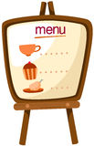 Menu stand Stock Photo