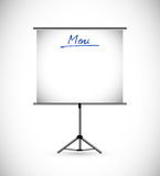Menu stand on white background illustration Stock Image