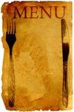menu starego stylu rocznik royalty ilustracja
