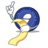 With menu Status coin mascot cartoon. Vector illustration Stock Photography
