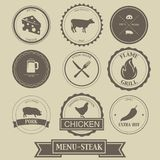 Menu Steak Label Design Royalty Free Stock Images
