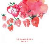 Menu strawberry Royalty Free Stock Photo