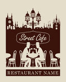 Menu for street cafe Royalty Free Stock Images
