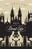 Menu for street cafe Royalty Free Stock Photo