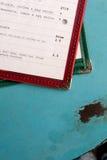 Menu sulla Tabella del metallo (2) Fotografia Stock