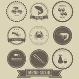 Menu Sushi Label Design Royalty Free Stock Image