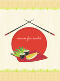 Menu for sushi Royalty Free Stock Photography