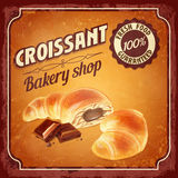 Menu sweet croissant Stock Photo
