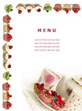 Menu for sweets Royalty Free Stock Photography