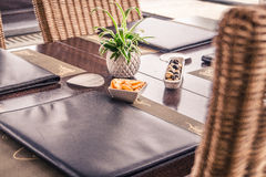 Menu On Table Restaurant Stock Image