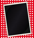 Menu on the tablecloth. Vector art illustration Stock Photography