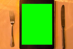 Menu Tablet royalty free stock photography