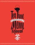 Menu tea with hieroglyph Royalty Free Stock Photos