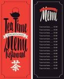 Menu tea with hieroglyph Royalty Free Stock Images