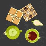 Menu for tea time Royalty Free Stock Photos
