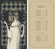 Menu for a tea time Royalty Free Stock Image