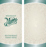 Menu Template Stock Image