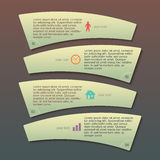Menu template business process company Report. Modern Design infographic style template on beautyful with numbered 3d effect shape. Vector illustration EPS 10 Royalty Free Stock Image