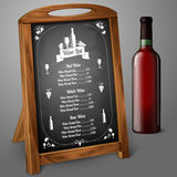 Menu template on chalkboard - for alcohol with Stock Photo