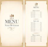 Menu template Stock Photo