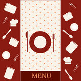 Menu template design Royalty Free Stock Image