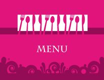 Menu template design. Cute design of menu template card. Vector illustration Royalty Free Stock Photo