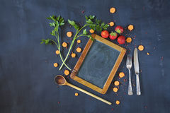 Menu, template design flat lay. Stock Photos