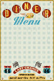 Menu Template For Diner Stock Images
