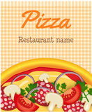 Menu template with pizza Stock Photo