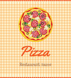 Menu template with pizza Stock Photography