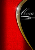 Menu Template  - Red Gold and Black Royalty Free Stock Images