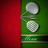 Menu Template - Red and Green Velvet Stock Image