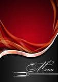 Menu Template - Red Metal and Black Stock Images