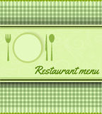 Menu template for restaurant Stock Image