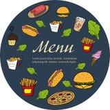 Menu template for restaurant. Stock Photos