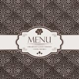 Menu template for restaurants, bars and beverages Stock Photography