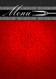 Menu Template - Silver and Red Velvet Royalty Free Stock Photos