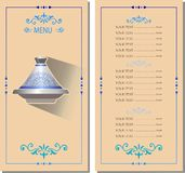 Menu template with tagine Morocco royalty free illustration