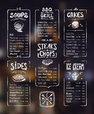 Menu template. Stock Images
