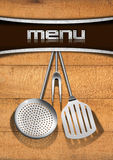 Menu Template - Wood and Metal Stock Photos