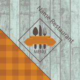Menu with the texture of wood Royalty Free Stock Photography