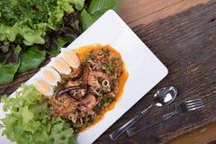 Menu thaïlandais de nourriture Images libres de droits