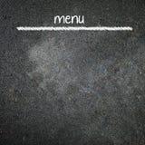 Menu title written with chalk on blackboard Royalty Free Stock Photography