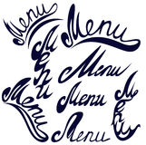 Menu titlle Stock Photography