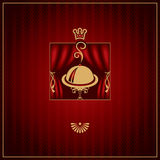 Menu with tray Royalty Free Stock Images
