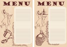 Menu in two styles Royalty Free Stock Images