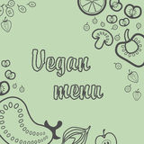 Menu végétarien Photos libres de droits